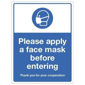 Sign apply a mask