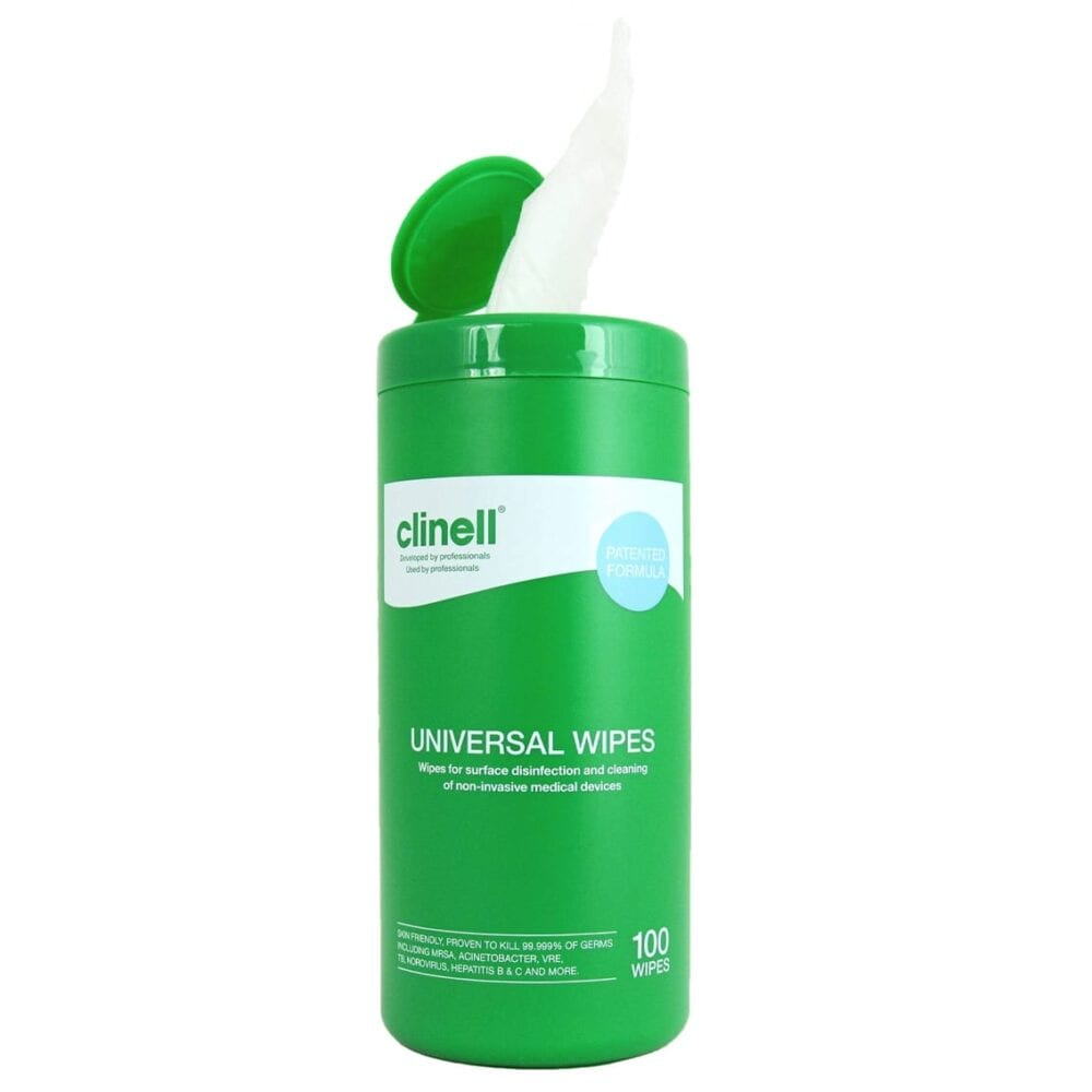 clinell wipes tub 100