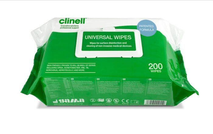 Universal wipes pack of 200 Rapid Fire Logistics