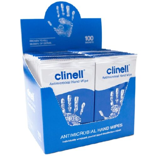 clinell hand wipes pk 100