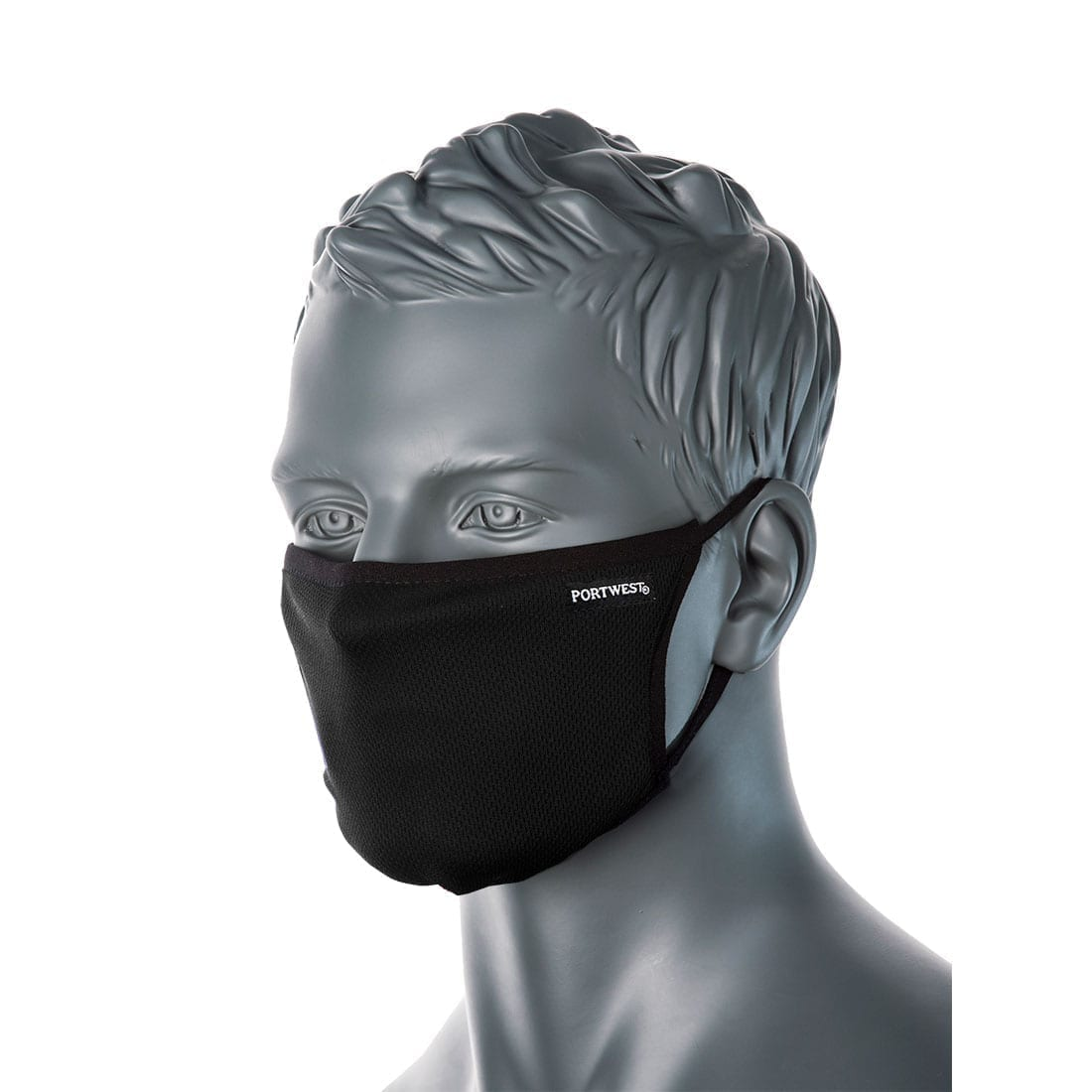 Black Portwest Reusable 3 Ply Mask. Box of 25 3-Ply Anti-Microbial 3PLY masks from Portwest is one of the best re-usable fabric masks in the market today. The black resuable masks has a anti-microbial finish, providing that extra protection whilst on the move. Furthermore, it kills 99.9% of bacteria and controls numerous odour-causing microorganisms that can accumulate in the fibres from skin contact and laundering.