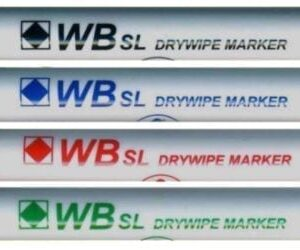 SIMPLY DRY WIPE MARKERS 4PK ASSORTED