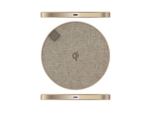 ALOGIC Wireless Charging Pad 10 W & USB-C to USB-C Cable, Champagne Gold