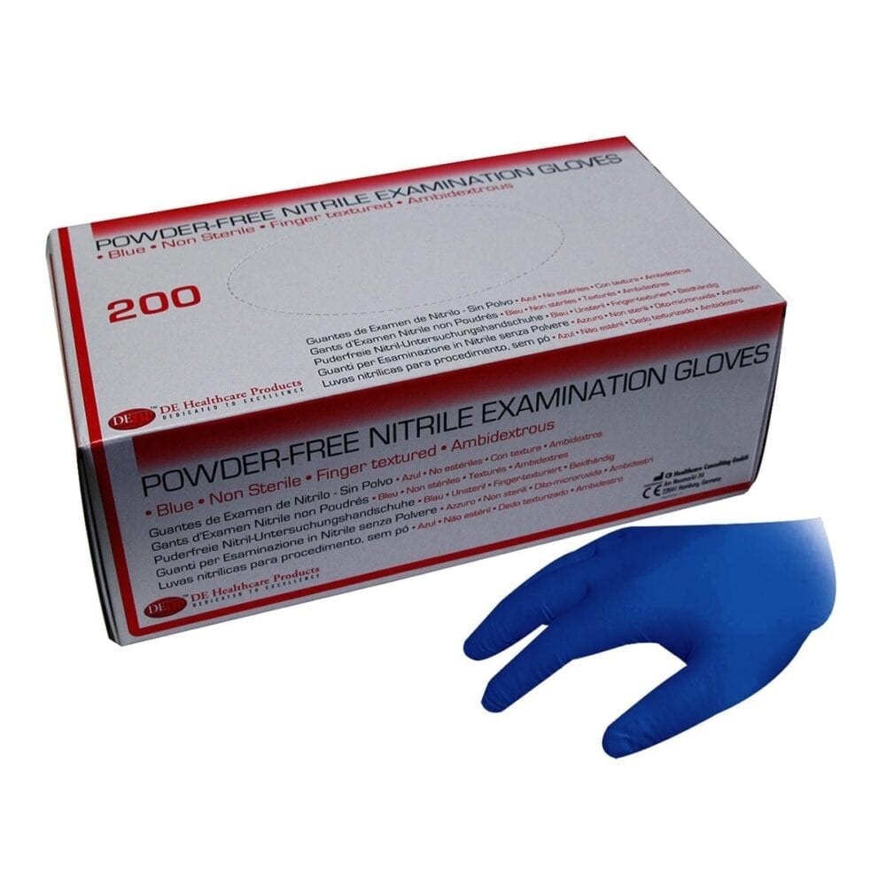 DEHP Gloves Nitrile Exam Pwd/F Blue Large 200pk