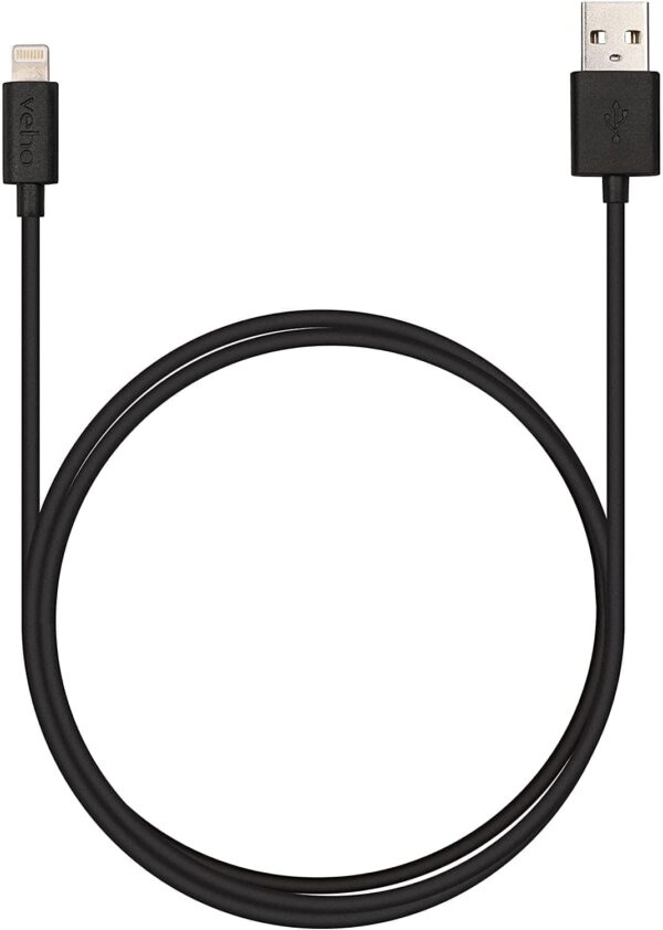 Veho 1 m PEBBLE Apple Lightning Charge and Sync Cable - Black, VPP-501-1M
