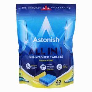 Astonish All in 1 Dishwasher 5 in 1 Tablets 42 Tablets