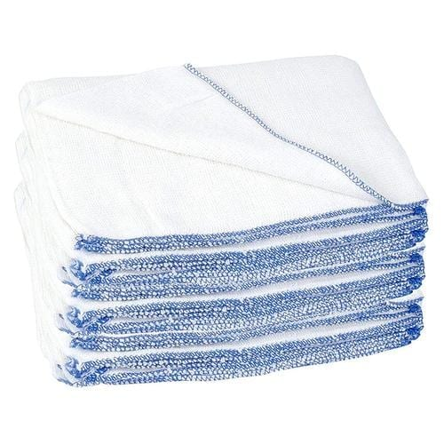 Professional Heavy Duty Fibre Dish Cloths White Large 100 Extra Value Pack