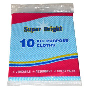 Super Bright All Purpose Cloths 10 Pack