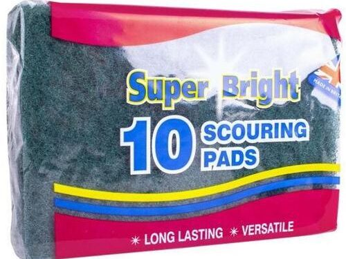 Super Bright Scouring Pads 10 Pack