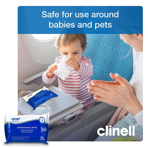 Clinell Antibacterial Hand Wipes (not individually wrapped) Pack of 200