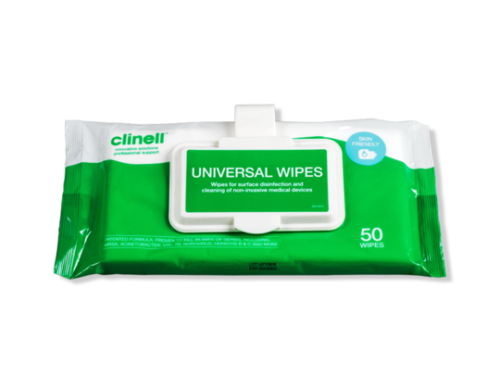 Universal Wipes Clip Pack 50