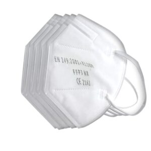 FFP3 NR - Flat Filtering Half Mask (Pack of 20) The foldable protective mask with the highest filter class in the EU, FFP3, is designed to allow easy breathing throughout the entire wearing period. The anatomical shape and the noseband made of malleable metal allow the half-mask to be easily adjusted to most face shapes. The required tightness is therefore guaranteed at all times. As the mask is foldable, it can easily disappear into a jacket pocket, handbag, etc., and is always ready to use, with the highest level of FFP3 protection.