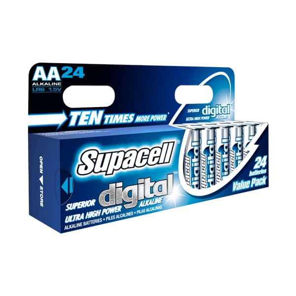 Supacell Digital Alkaline AA LR6 Batteries | 24 Pack