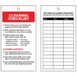 COVID-19 Cleaning Safety Tag Safety Sign