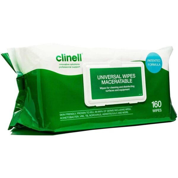 Clinell Universal Maceratable Wipes