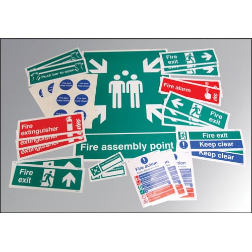 Fire Safety Signs Kit Safety Sign
