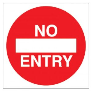No Entry - Floor Graphic (Square) Safety Sign