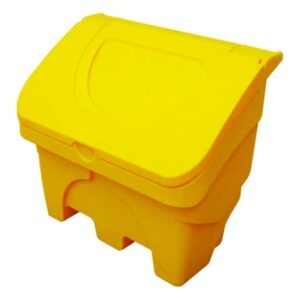 The Firechief GSGB130 is a yellow rotationally moulded plastic 130 litre grit bin. This bin is suitable for the storage of salt, sand and grit.