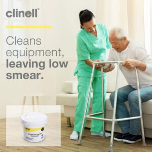 Clinell Detergent Wipes - Alcohol and Disinfectant Free - Bucket of 260 Wipes