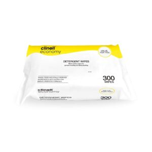 Clinell Economy Detergent Wipes 300