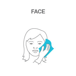 Suitable for use on faces