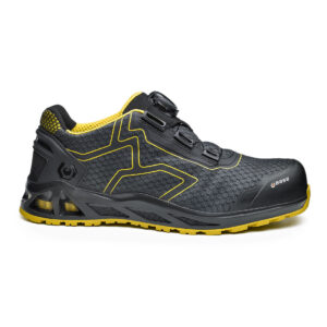 K-Jump/ K-Trek/ K-Rush Safety Shoe Anti-static footwear 200 joules resistant toe-cap Puncture resistant sole Shock absorption in the heel region Heat resistant 1 minute up to 300°C Hydrocarbons resistant Men's width Women's width Orthopaedic made to measure footbed, complying with european norms DGUV112-191 Materials Upper: Breathable Fabric Lining: SmellStop Antiodor and Antibacterial* Midsole: Fresh'n Flex Toecap: Aluminium Sole: Double-Density PU/HRO Rubber i-daptive® Technology