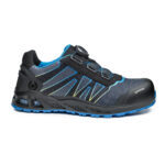 B1007 - K-Energy Safety Shoe Anti-static footwear Water resistant upper to prevent water penetration 200 joules resistant toe-cap Puncture resistant sole Shock absorption in the heel region Heat resistant 1 minute up to 300°C Hydrocarbons resistant Men's width Women's width Orthopaedic made to measure footbed, complying with european norms DGUV112-191 Materials Upper: Waterproof Textile Lining: SmellStop Antiodor and Antibacterial* Midsole: Fresh'n Flex Toecap: Aluminium Sole: Double-Density PU/HRO Rubber i-daptive® Technology