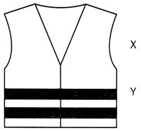 Simple drawn logo of black and with hi-vis vest with X & Y to the right hand side
