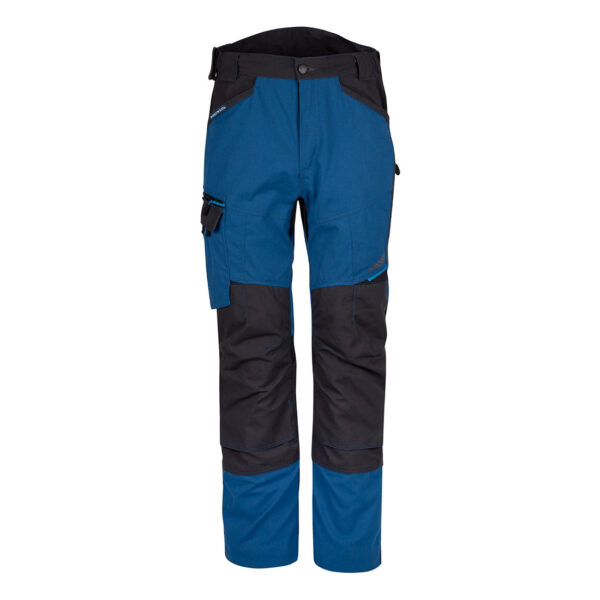 Contemporary work trouser that fits as good as it looks. Made from durable poly-cotton canvas fabric and includes triple stitched seams, these trousers have been built to last. Innovative design features like stretch panelling provides excellent comfort and flexibility in key movement areas. Other practical features include high rise back waistband with side elastication, knee pad pockets offer extra protection in all working conditions and multiple pockets provide secure storage. Features Contemporary design with an ergonomic cut Durable soft polycotton canvas for high performance and maximum wearer comfort Innovative stretch panelling in key movement areas provides excellent comfort and flexibility Triple-stitched seams for extra durability Crotch gusset to reduce stress and prevent seam failure Adjustable hem to accommodate all leg lengths 4-way stretch fabric for ease of movement and added comfort 8 pockets for ample storage Two tier knee pad pockets allowing two positioning options Free pair of kneepads included with this trouser