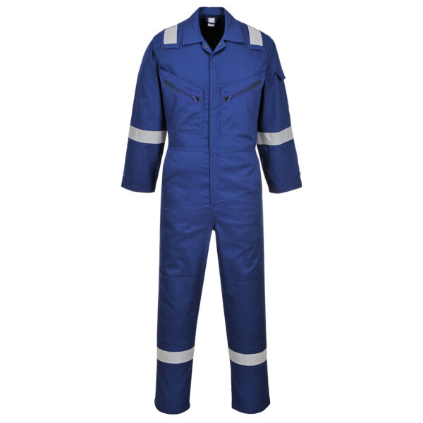 C814 - Iona Cotton Coverall Royal Blue
