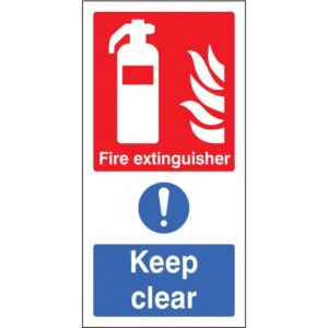 Fire Extinguisher Keep Clear (Multi Purpose) Safety Sign