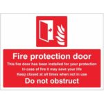 Do Not Obstruct Safety Sign
