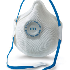 Moldex 2385 Smart FFP1 valved mask Moldex smart FFP masks are designed with a soft foam nose cushion for a comfortable fit. A soft, skin-friendly inner fleece layer and a stretchy woven strap provide additional comfort for the wearer. The flexible ActivForm®3D design adapts automatically to the shape of the wearers face and their facial movements. As a result, our Smart masks are easy to wear and sit securely and comfortably on the skin at all times, without the need for a nose clip. Our DuraMesh®structure preserves the shape of the mask under even the most testing conditions. Moldex Smart FFP masks offer reliable protection against particles. They are available in the protection levels FFP1,FFP2andFFP3.