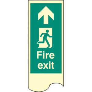 Door Plate Fire Exit Straight On Safety Sign