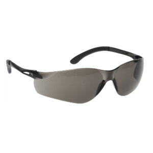 Picture of the PW38 Pan View Safety Glasses from Portwest with frame colour Black with tinted lens