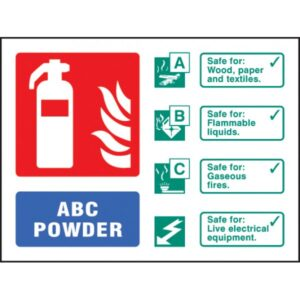 Image of a Powder Fire Extinguisher ID Sign