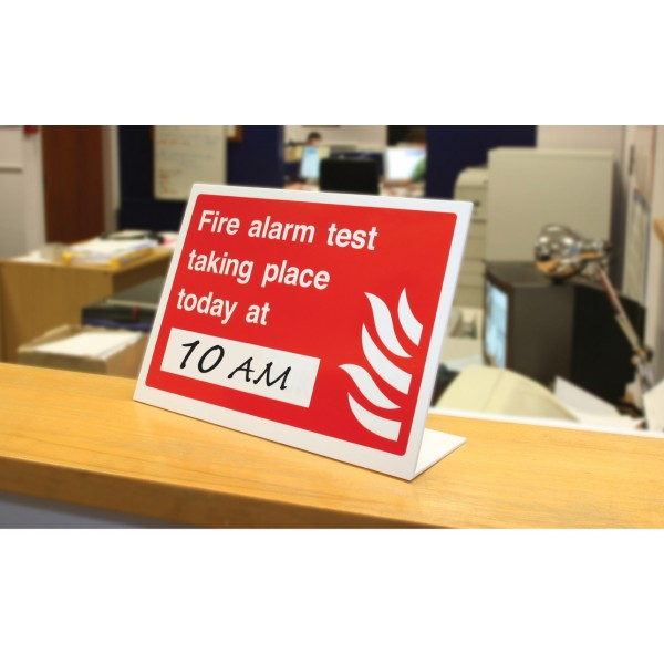 Image of a Fire Alarm Test Sign