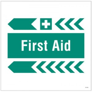 First Aid Safety Signage Left Arrow