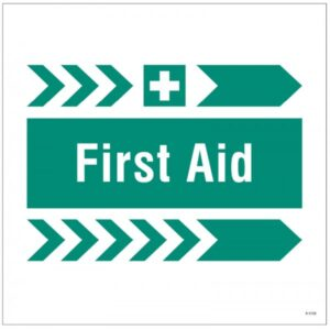 First Aid Safety Signage Right Arrow