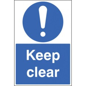 Image of a Keep Clear Floor Sign