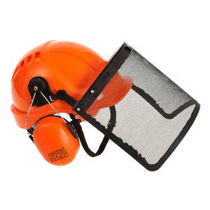 Image of PW98 Forestry Safety Helmet with Visor and Ear Defenders