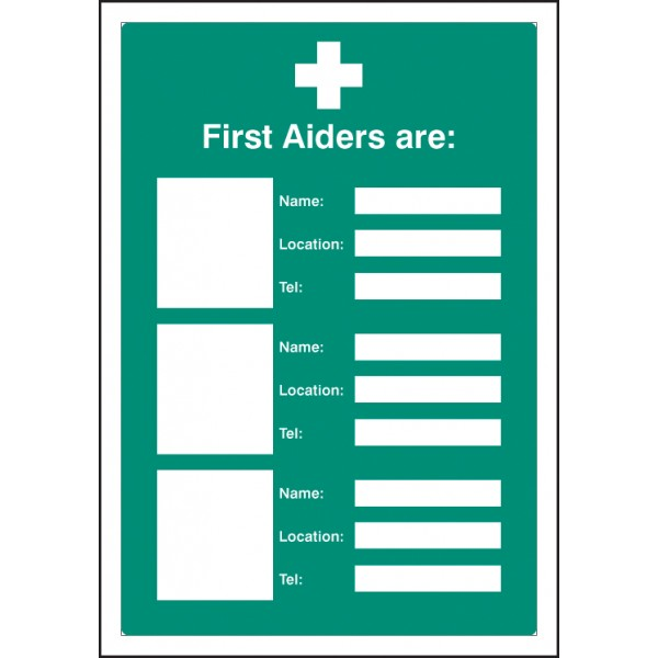 Photo First Aiders Are Safety Signage