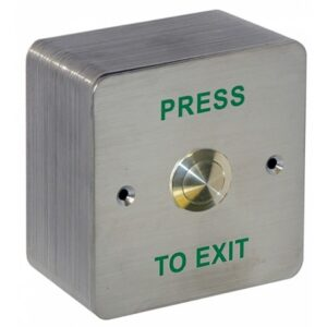 RFS Stainless Steel Press To Exit & Box